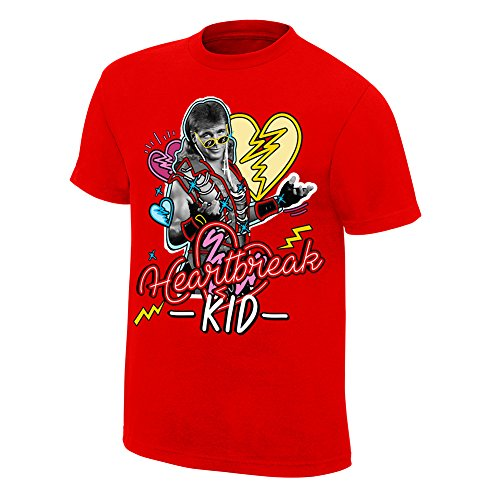 WWE Shawn Michaels Neon Collection Graphic T-Shirt Red 2XL by WWE Authentic Wear
