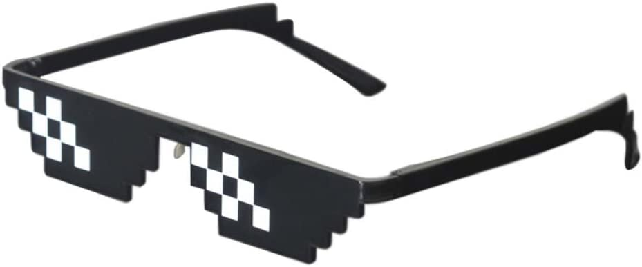 Lorigun Thug Life Sunglasses Pixelated Mosaic Glasses Party Glasses Mlg Shades 12 Pixels