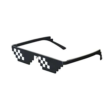 990ee6006d Image Unavailable. Image not available for. Color  Lorigun Thug Life  Sunglasses Pixelated Mosaic Glasses Party Glasses MLG Shades