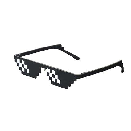 47ea24b29 Amazon.com  Lorigun Thug Life Sunglasses Pixelated Mosaic Glasses Party Glasses  MLG Shades  Toys   Games