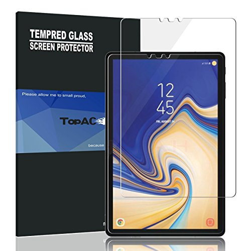 Samsung Galaxy Tab S4 10.5 Screen Protector, TopACE 9H Hardness [Anti-Scratch][Bubble Free] Tempered Glass for Samsung Galaxy Tab S4 SM-T830 Wi-Fi/SM-T835 4G LTE 10.5-inch 2018 Release (1 Pack)