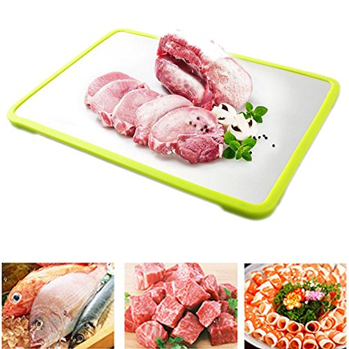 Lesirit Magical Thaw Defrosting Tray-Thaws Frozen Food Faster (Green) by Lesirit