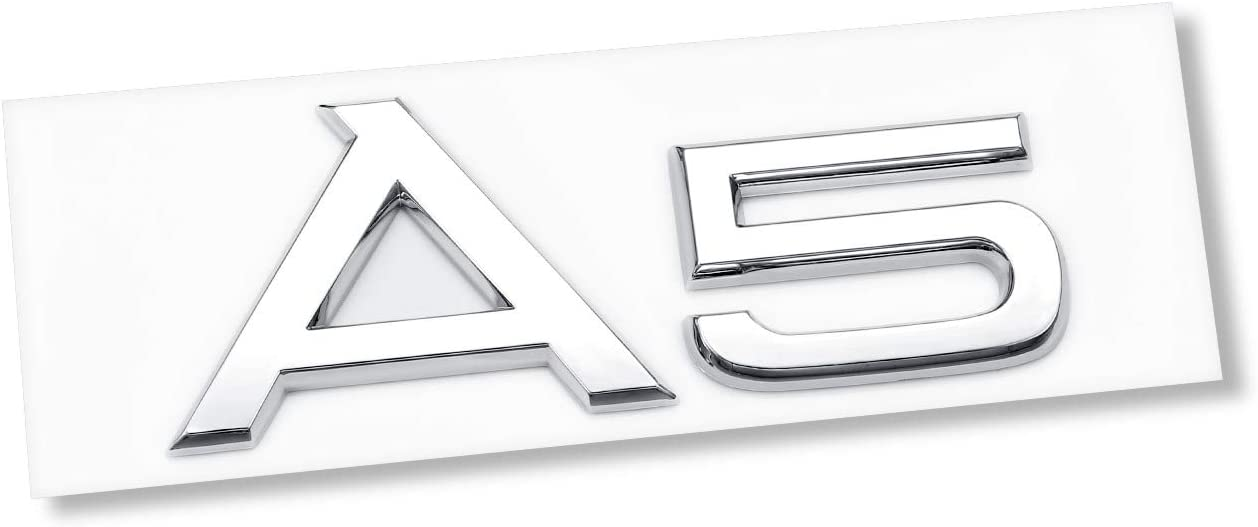 AUTO-P Fit for Audi A4 Luggage Lid Adhesive Logo Sign Sport 3D ABS Plating Emblem Badge Sticker Decoration A4 Silver