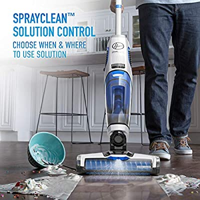 Hoover ONEPWR FloorMate Jet Cordless Hard Floor Cleaner, Wet Vacuum with 3Ah Battery, BH55210, White: Home & Kitchen