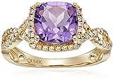 14k Diamond Cushion Infinity Shank Engagement Ring (1/4cttw, H-I Color, I1-I2 Clarity), Size 7