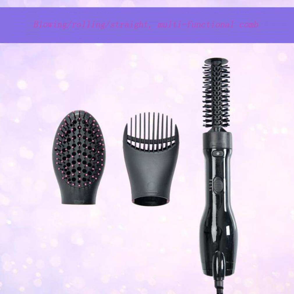 MTXLN One Step Hair Dryer & Hot Air Comb |Multifunction Styler | 3 in 1 Hot Air Hair Curling Straight Comb Anion Hair Dryer for All Hair Types | EliminateFrizzing (Black) by MTXLN (Image #5)