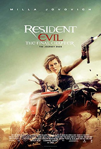 Resident Evil  The Final Chapter Movie Poster 11 X 17 Ruby Rose  Milla Jovovich  C  Made In The U S A