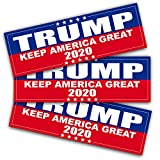 Anley 9 X 3 inch Trump 2020 Keep America Great Decal - Car and Truck Reflective Bumper Stickers - 2020 United States Presidential Election (3 Pack)