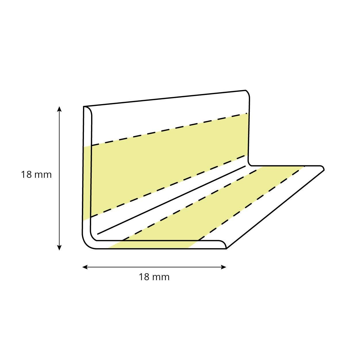 18x18mm Wei/ß Knickleiste f/ür Sanit/är Material: PVC 5 Meter STEIGNER Weichsockelleiste selbstklebend