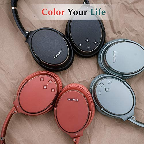 Noise Cancelling Headphones Wireless Bluetooth 5.0,Fast Charge Over-Ear Lightweight Srhythm NC35 Headset with Microphones,Mega Bass 40+ Hours' Playtime -Low Latency 51fuiSmdEcL