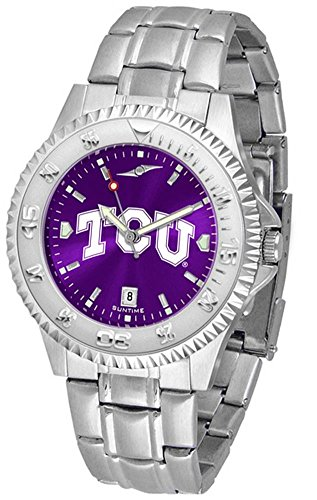 Competitor Steel Anochrome Watch - Texas Christian Horned Frogs Competitor Steel AnoChrome Men's Watch