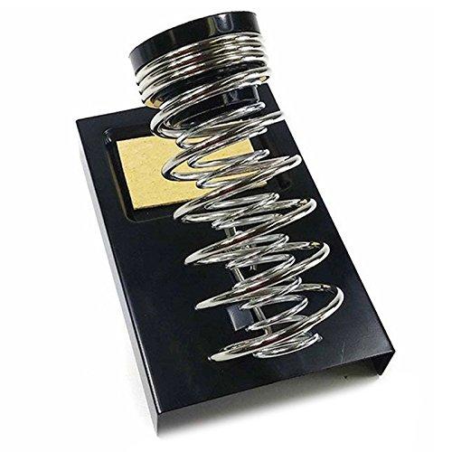 R Portable Amovible Fer a Souder Support Avec eponge Ressort Base Noir jeu de 3 Pieces Fer a Souder Support SODIAL
