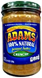 Adams 100% Natural CRUNCHY PEANUT BUTTER 36oz (2 Pack)