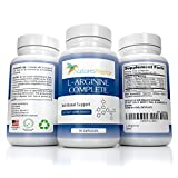 L Arginine Supplement - Nitric Oxide Booster Supplements - NO2 - With lecithin powder- Now Over 2,000 mg per serving of Pure Arginine – 90 Capsules l argenine larginine l argine