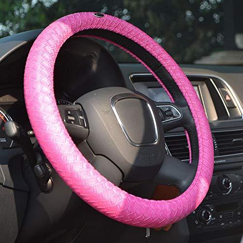 Maerye Steering Wheel Cover Woven Pattern Microfiber Anti-Slip wear-Resistant Protective Sleeve 38cm/15 inch ()