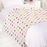 Dreamscene Star Fleece Blanket, Pink, 120 x 150 Cm