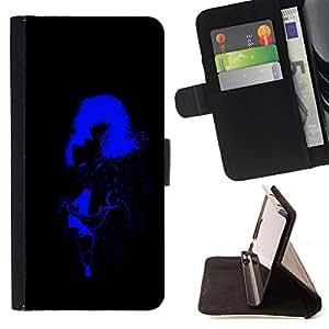BullDog Case - FOR/HTC Desire 820 / - / sexy woman stripper neon light big hair boobs /- Monedero de cuero de la PU Llevar cubierta de la caja con el ID Credit Card Slots Flip funda de cuer