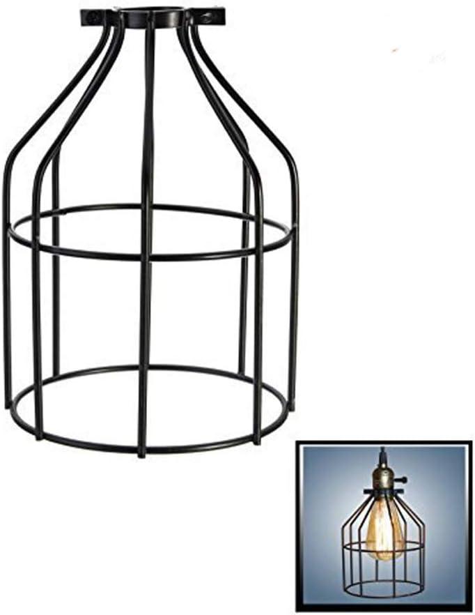Bombilla jaula de alambre de hierro, nicwhite lámpara industrial jaula de alambre colgante de soporte de lámpara, lámpara/luz Protector, abrazadera de proyección Guardia, Pack of One, 7.4