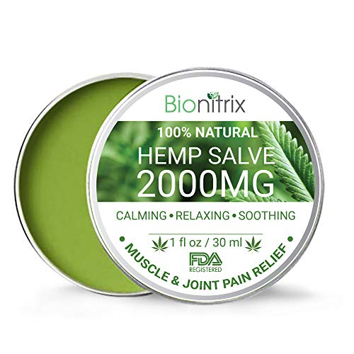 Bionitrix Hemp Oil Salve - 2000MG - Natural Hemp Extract for Arthritis, Muscle, Joint, Back & Knee Pain - Fast Recovery and Relief - Treatment for Muscle Soreness & Inflammation