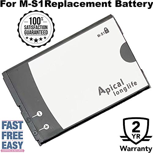 (Apical Longlife BB M-S1 Li-Ion Replacement Battery M-S1 Compatible for BBerry Bold 9000 9700 9780 (2200 mAh))