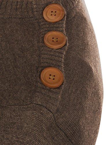 rond 70816 pull avec d'épaule Mélange bouton Men mélange moka de fine col et maille Louis en pull zaU0ag