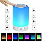 【2018 UPGRADE Portable Bluetooth Speakers V4.0 Wireless Speakers Stereo Subwoofer Smart Touch Speakers Color Changing … (Small)