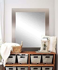 "BrandtWorks Modern Wall Mirror, 32"" x 41"", Silver"