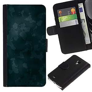 iBinBang / Flip Funda de Cuero Case Cover - Textura azul Camoo - Samsung Galaxy S4 Mini i9190 MINI VERSION!
