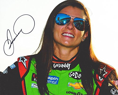 AUTOGRAPHED 2015 Danica Patrick #10 GoDaddy Racing Team (Stewart-Haas) Pit Road Sunglases Signed Picture 8X10 NASCAR Glossy Photo with - Sunglases Shop