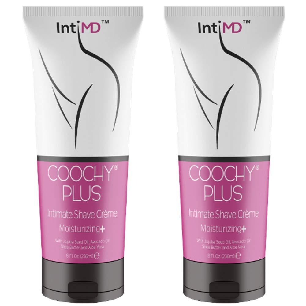 IntiMD COOCHY PLUS (2 Pack) Intimate Shave Cream Rash-Free With MOISTURIZING+ 8oz