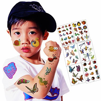 Amazon.com: 6 Sheets / Lot Kid Lovely Temporary Tattoo Stickers ...