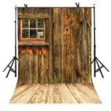 ST 6 X 9 FT Rustic Style Photography Backdrop Wooden Floor Picture Background for Personal Party Backdrop or YOUTUBE Background Props ST690018