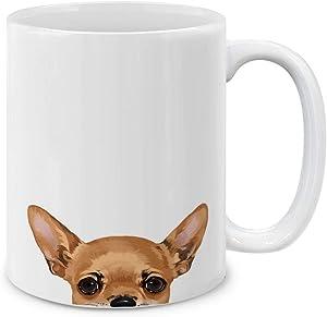 MUGBREW Fawn Apple Head Chihuahua Ceramic Coffee Mug Tea Cup, 11 OZ