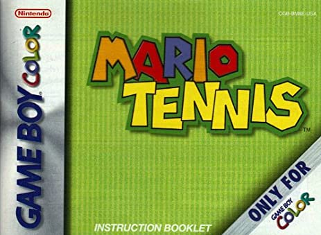 amazon com mario tennis gbc instruction booklet game boy color rh amazon com manuel game boy color manuel game boy color
