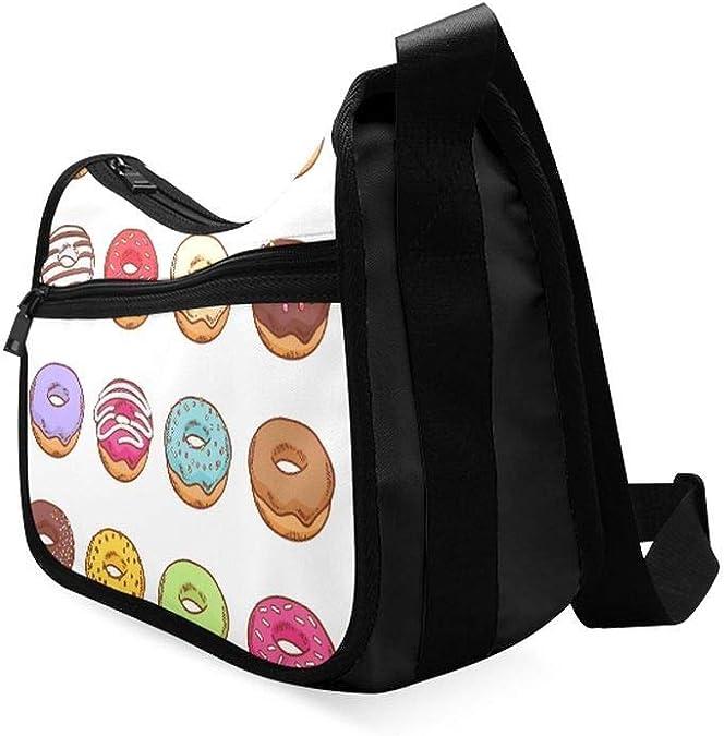 Set Of Cute Cartoon Owls Messenger Bag Crossbody Bag Large Durable Shoulder School Or Business Bag Oxford Fabric For Mens Womens