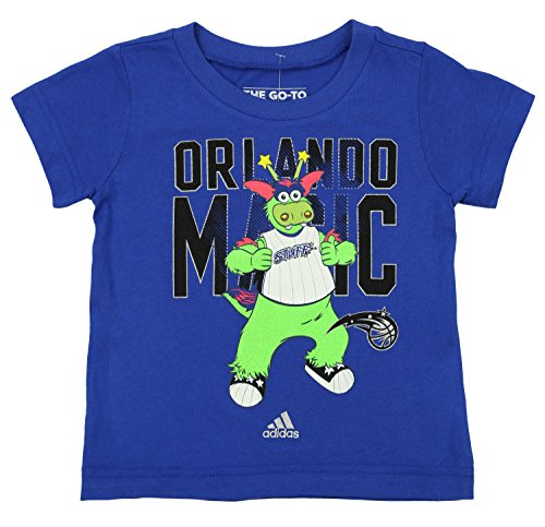 Mascot Large Adidas T-shirt (NBA Toddler's Orlando Magic Crowd Pleaser Graphic Te, Blue 4T)