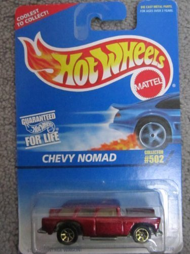 - 1995 Hotwheels #502 Chevy Nomad Stylish Vintage Wagon by Mattel