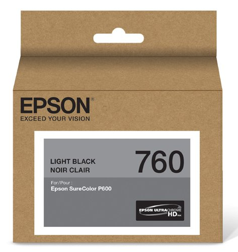 Epson T760720 UltraChrome HD Light Black Standard Capacity Cartridge Ink