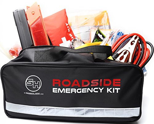 Roadside Emergency Kit with Jumper Cables and First Aid S...