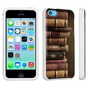 DuroCase ? Apple iPhone 5c Hard Case White - (Vintage Books)