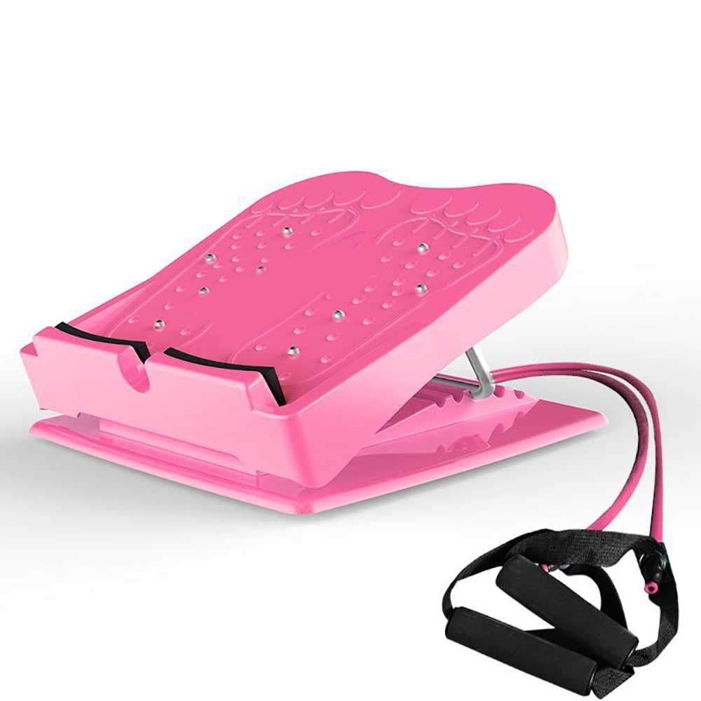 Zhao Li Lacing Board Stovepipe Large Pedal Foot Pedal Health Hall Aerobic Humpback Stretching Standing Lacing Bed Ankle Ribs (Color : Red, Size : Elastic)