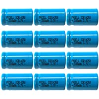 1/2AA 3.7 Volt 300 mAh ICR14250 Lithium Battery 12PC