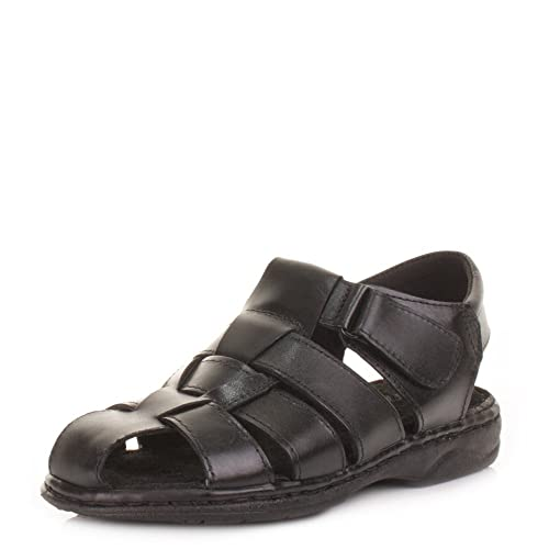 df8b6f49ad4 Mens Fisherman Leather Summer Sandals  Amazon.co.uk  Shoes   Bags