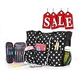 ROSEMARY Zip Top Utility Tote Bag – Knitting Yarn Organizer...