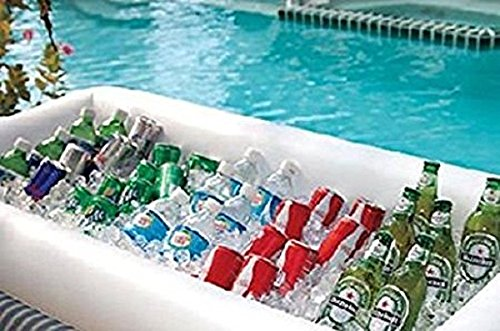 2 Pack GGI International Inflatable Serving Bar With Drain Plug