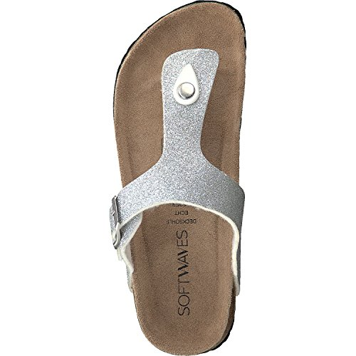 Women's Softwaves Back Silver Slippers Open 6pwAq0dwP