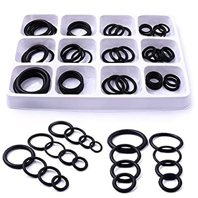 CHEERBRIGHT 50pc Rubber O Ring Set Assortment Kit for Plumbing Hydraulic Pneumatic Tool Set