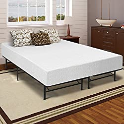 "Best Price Mattress 12"" Memory Foam Mattress & Bed Frame Set, Queen"