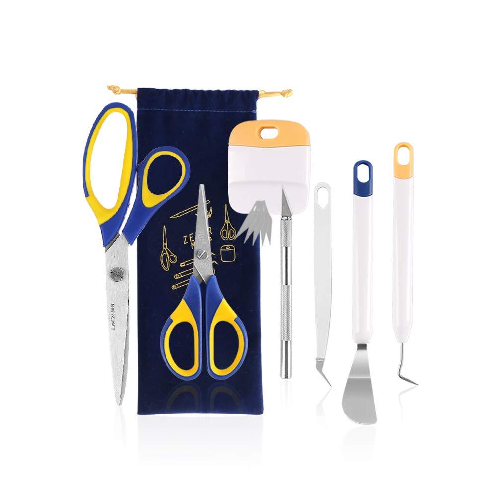12 Pieces Craft Weeding Tools Set/Craft Vinyl Tools Kit with Storage Bag for Weeding Vinyl by ZELARMAN