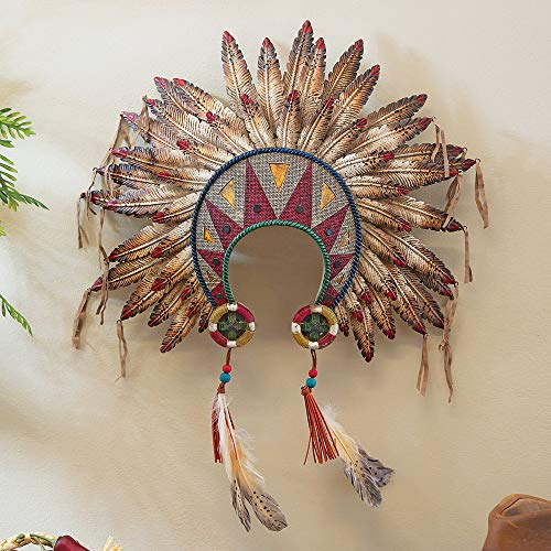 BLACK FOREST DECOR Feathered Headdress Wall Art